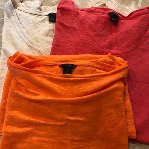 3 Ann Taylor Shirts
